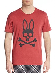 Psycho Bunny Logo Graphic Cotton Jersey Lounge Tee Pinot