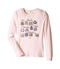 Kate Spade Chocolate Box Tee Big Kids Pastry Pink Women's T Shirt Multi