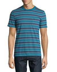 Original Penguin Striped Jersey Tee Blue