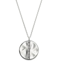 Ippolita Sterling Silver Glamazon Stardust Large Station Disc Pendant Necklace With Diamonds 16