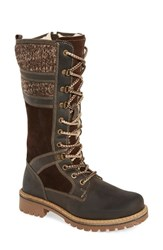 Bos. And Co. Women's Holding Waterproof Boot Dark Brown Coffee Leather