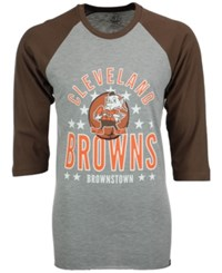 47 Brand '47 Men's Cleveland Browns Lockdown Raglan T Shirt Gray