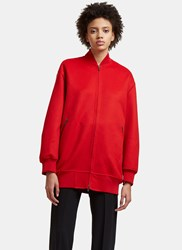 Valentino Oversized Bomber Jacket Red