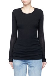 James Perse Double Layered Rib Knit Sweater Black