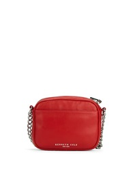 Kenneth Cole Sloan Street Leather Crossbody Bag Chili