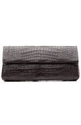Nancy Gonzalez Crocodile Fold Over Clutch