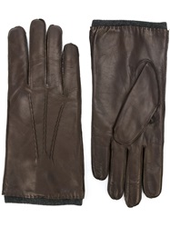 Orciani Leather Gloves Brown