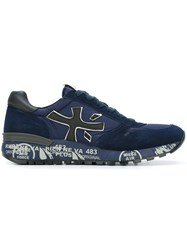 Premiata White 'Mick' Sneakers Blue