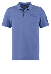 Tom Tailor Fitted Polo Shirt Deep Ultramarine Blue