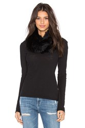 525 America Infinity Rabbit Fur Scarf Black