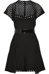 Marios Schwab Broderie Anglaise Cotton Playsuit Black
