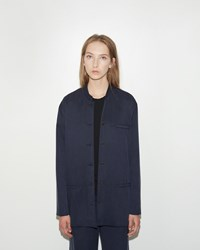 Dua An Washed Silk Jacket Navy