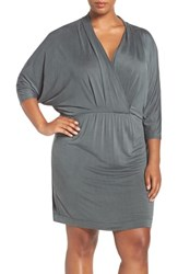 Tart Plus Size Women's 'Constance' Batwing Sleeve Blouson Dress Navy