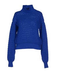 Le Mont St Michel Knitwear Turtlenecks Women Blue