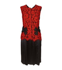 Marc Jacobs Floral Lace Dress Female Red