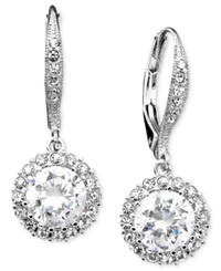Eliot Danori Earrings Cubic Zirconia 3 Ct. T.W. And Crystal Accent Leverback