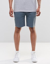Asos Jersey Shorts In Blue Stormy