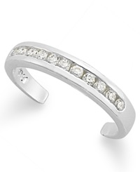 B. Brilliant Sterling Silver Toe Ring Cubic Zirconia Channel Set Toe Ring 1 5 Ct. T.W.