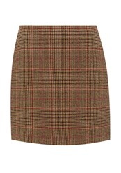 Hallhuber Glen Check Skirt Multi Coloured Multi Coloured
