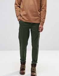 Pull And Bear Pullandbear Cargo Chinos In Khaki Slim Fit Khaki Green