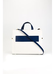 Desa 1972 'Belt' Contrast Strap Tote Bag White