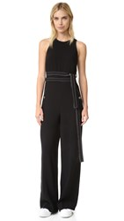 Grey Jason Wu Double Tie Jumpsuit Black