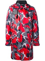 Ktz 'Camouflage' Coat Red