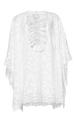 Andrew Gn Flutter Sleeve Mini Dress White