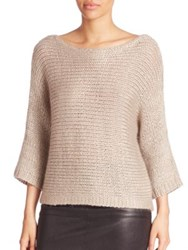 Eileen Fisher Silk Mohair And Cashmere Sweater Mauve Maple Oat