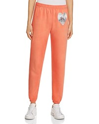 Wildfox Couture My Disco Heart Sweatpants Electric Red