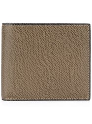 Valextra Textured Billfold Wallet Brown