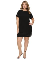 Calvin Klein Plus Size T Shirt Dress W Grommets Black Women's Dress
