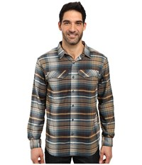 Columbia Silver Ridge Flannel Long Sleeve Shirt New Cinder Ombre Plaid Men's Long Sleeve Button Up Gray