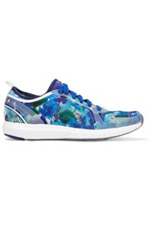 Adidas By Stella Mccartney Climacool Sonic Rubber Paneled Printed Mesh Sneakers Blue