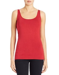 Lord And Taylor Iconic Fit Tank Top Scooter Red