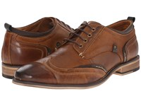 Steve Madden Jimmer Tan Leather Men's Lace Up Wing Tip Shoes