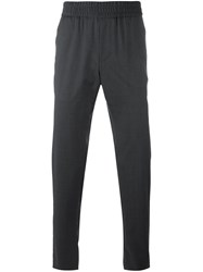 Emporio Armani Elasticated Waistband Trousers Grey