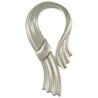 Eclectica Vintage 1980S Monet Chrome Plated Ribbon Brooch Silver