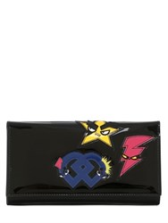 Dsquared Punk Patches Patent Leather Clutch