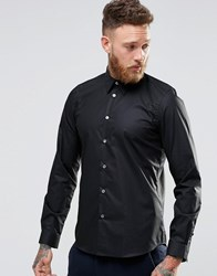 Paul Smith Shirt With Contrast Under Cuff In Black Tailored Slim Fit Black