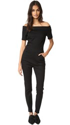 3X1 Off The Shoulder Jumpsuit Noir