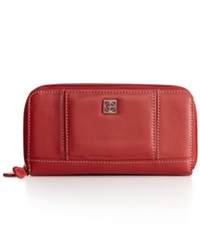 Giani Bernini Wallet Softy Leather Banker Red