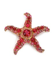 Kenneth Jay Lane Maroon Starfish Pin