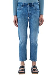 Gucci Washed Slim Leg Jeans Blue