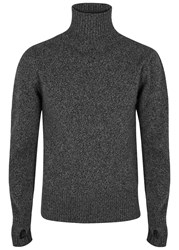 Oliver Spencer Charcoal Roll Neck Wool Jumper