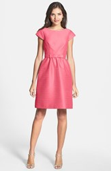 Women's Alfred Sung Woven Fit And Flare Dress Papaya