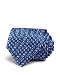 Bloomingdale's The Men's Store At Floret Diamond Neat Classic Tie Blue