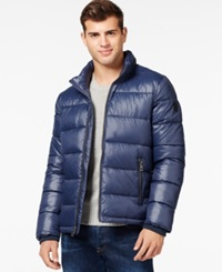 Guess Basic Puffer Jacket Navy