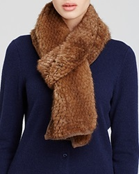 Maximilian Knitted Mink Scarf Wild