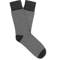 Kingsman Corgi Striped Cotton Blend Socks Gray